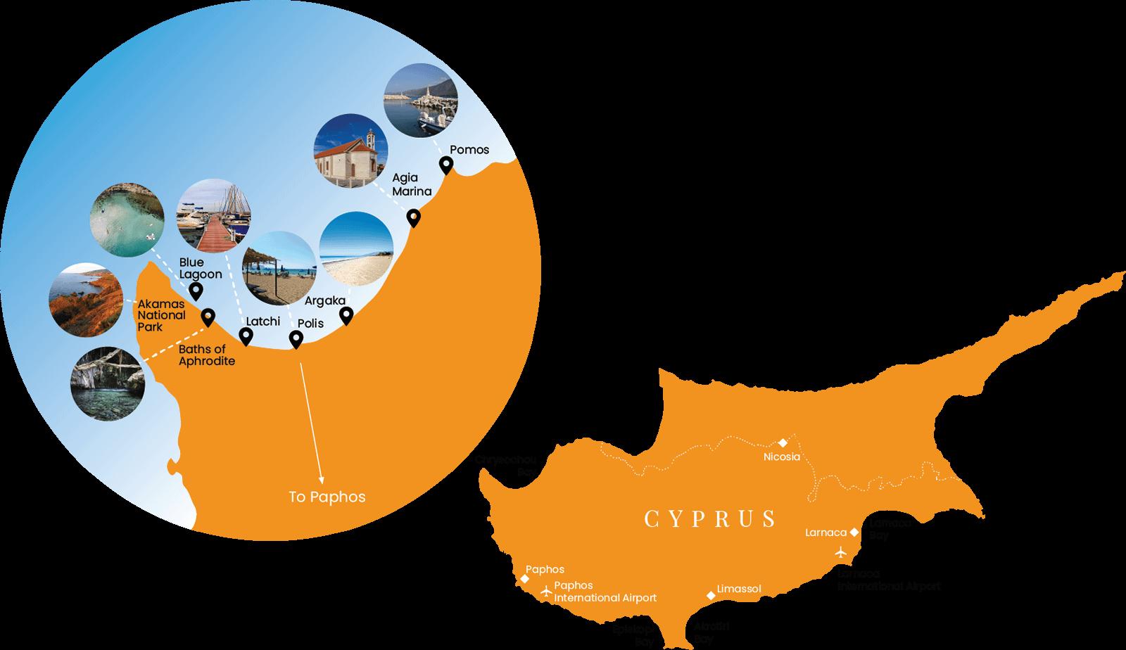 Polis Chrysochous Map   Polis Tourism